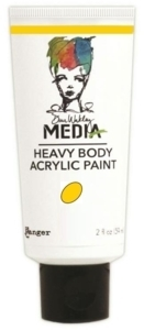 Dina Wakley Media Heavy Body Acrylic Paint - Lemon