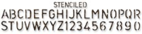Sizzix Sizzlits Decorative Strip Die - Tim Holtz Stenciled Alpha