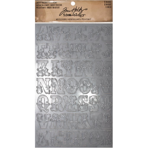 "Tim Holtz Industrious Stickers - Cirque 1"" Alphabet"