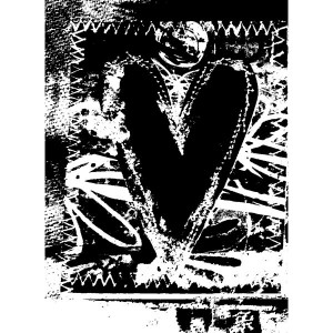 Cling - Reversed Stitched Heart