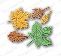 Stanzschablone Small Leaf Set