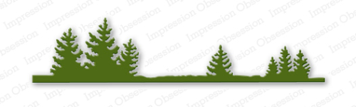 Stanzschablone Fir Tree Border