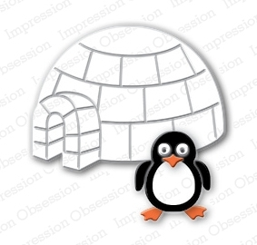 Stanzschablone Penguin & Igloo