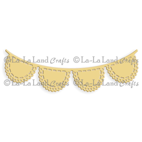 Stanzschablone - Scalloped Banner