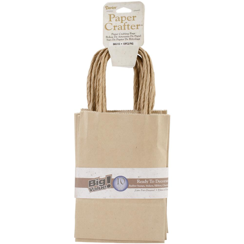 "Value Pack Paper Bags 4.72""X6.70""X1.97"" Kraft"