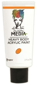 Dina Wakley Media Heavy Body Acrylic Paint - Tangerine