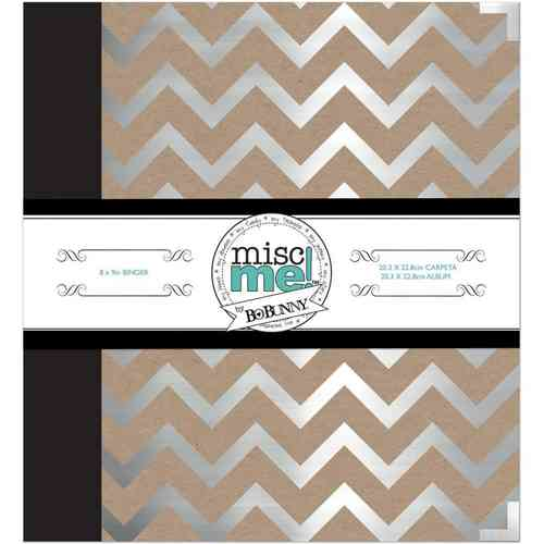 "Misc Me Binder Life Journal 8""X9"" silver"