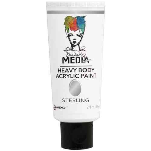 Dina Wakley Media Heavy Body Acrylic Paint - Sterling