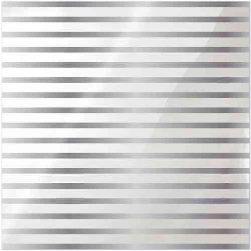 Clearly Posh Acetate Sheet - Stripe with Silver Foil