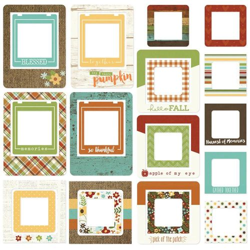 Pumpkin Spice Chipboard Frames