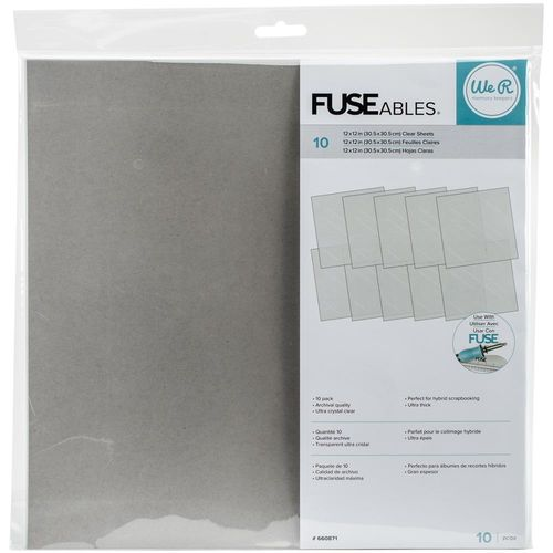 "FUSEables Fuse Clear Sheets 12""X12"""