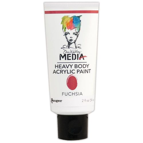 Dina Wakley Media Heavy Body Acrylic Paint - Fuchsia