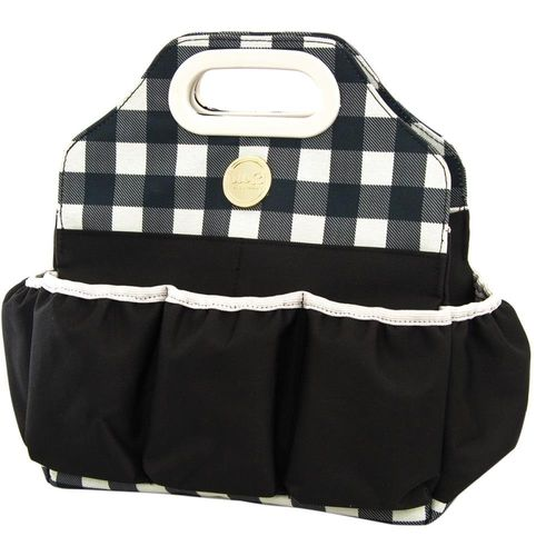 Tote Bag Black Plaid