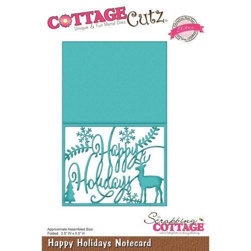 Stanzschablone Happy Holiday Notecard