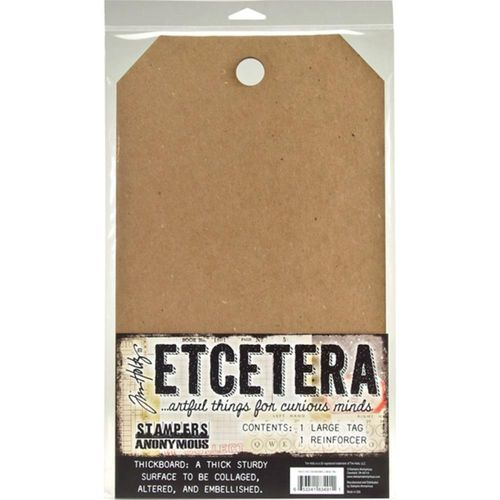 "Tim Holtz Etcetera Large Tag 8,25""X14,25"""