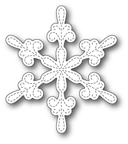Stanzschablone Chancery Snowflake Outline