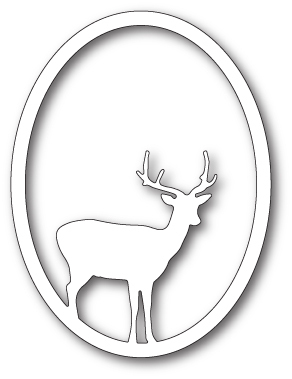 Stanzschablone Single Deer Oval
