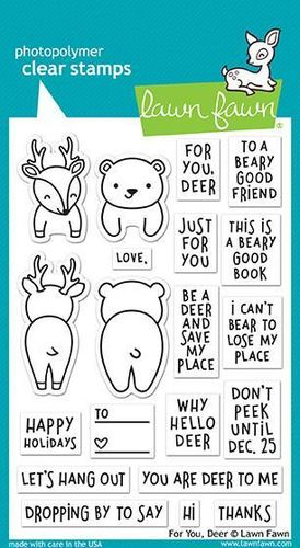 Clear Stamp - For You Deer