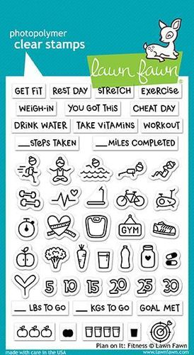 Clear Stamp - Plan on It: Fitness