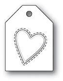 Stanzschablone Embossed Heart Taglet