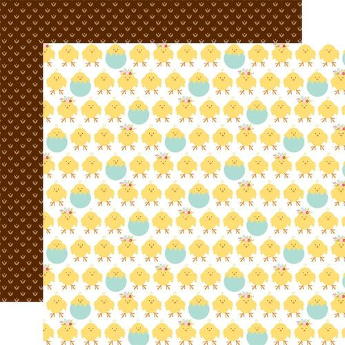 Papier Hello Easter - Chicks/Brown Dots