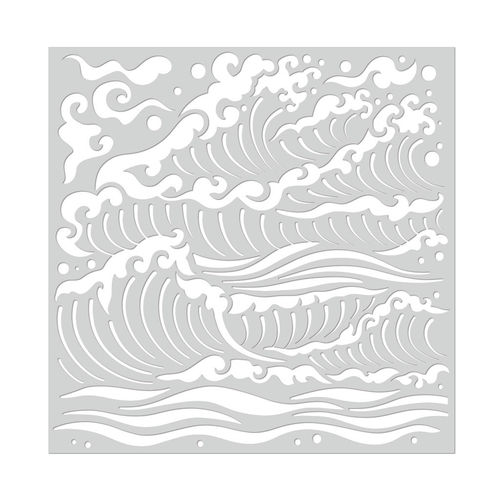 "Schablone Mermaid Sea Waves 6""x6"""