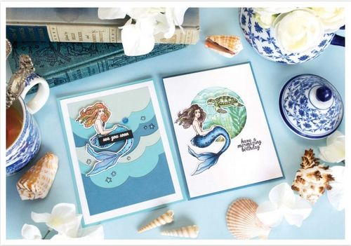 Mermaid Stamp & Cut