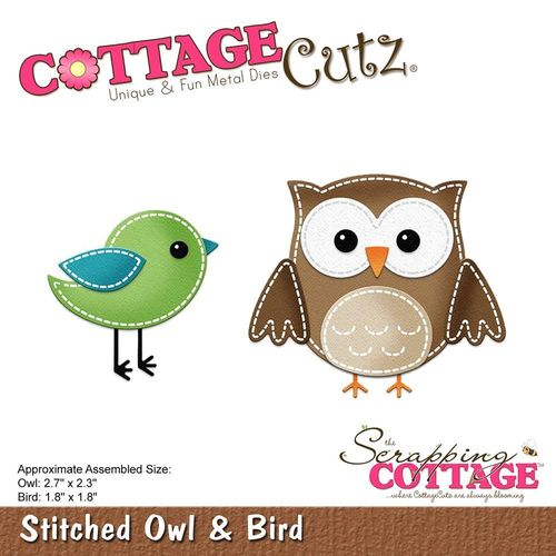 Stanzschablone Stitched Owl & Bird