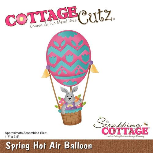 Stanzschablone Spring Hot Air Balloon