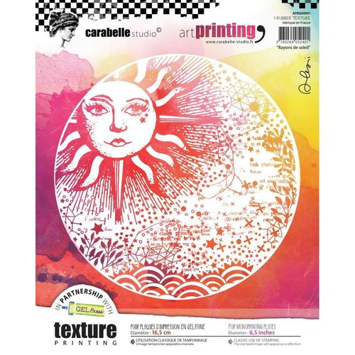 Art Printing Round Rubber Texture Plate - Rayons de soleil
