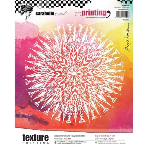 Art Printing Round Rubber Texture Plate - Rosace
