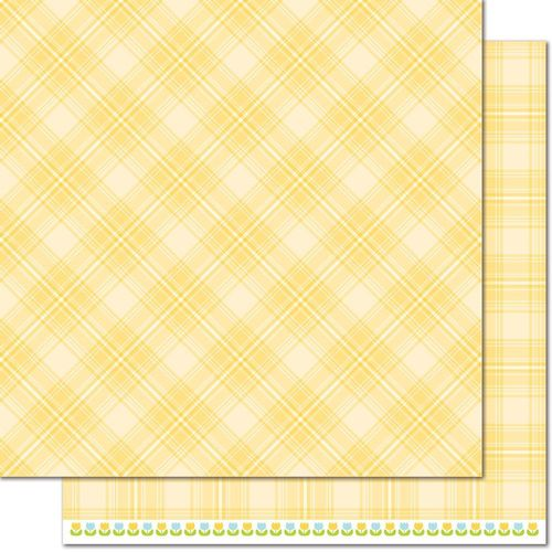 Papier Perfectly Plaid Spring - Daffodil