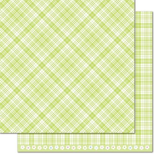 Papier Perfectly Plaid Spring - Lily of the Valley