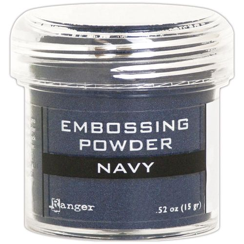 Embossingpulver Navy metallic
