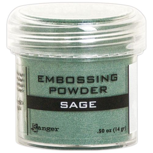 Embossingpulver Sage metallic
