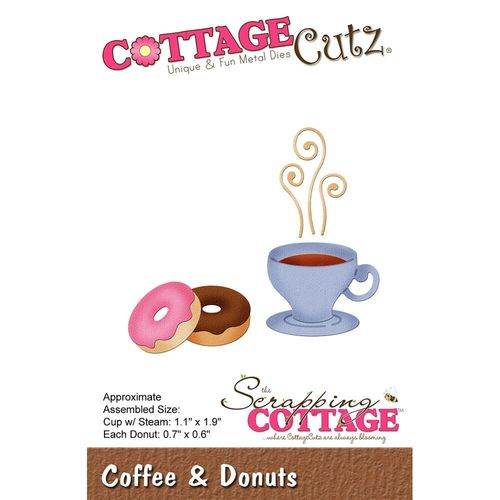 Stanzschablone Coffee & Donuts