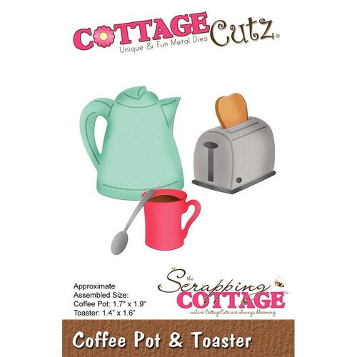 Stanzschablone Coffee Pot & Toaster