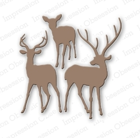Stanzschablone Deer Trio