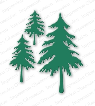Stanzschablone Fir Trees