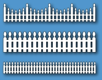 Stanzschablone Fanciful Fences