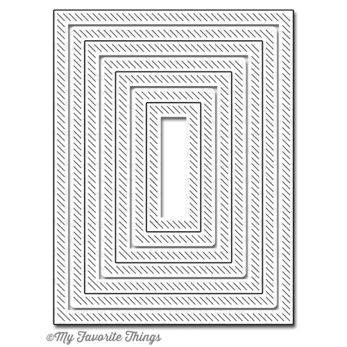 Stanzschablone - Inside & Out Diagonal Stitched Rectangle