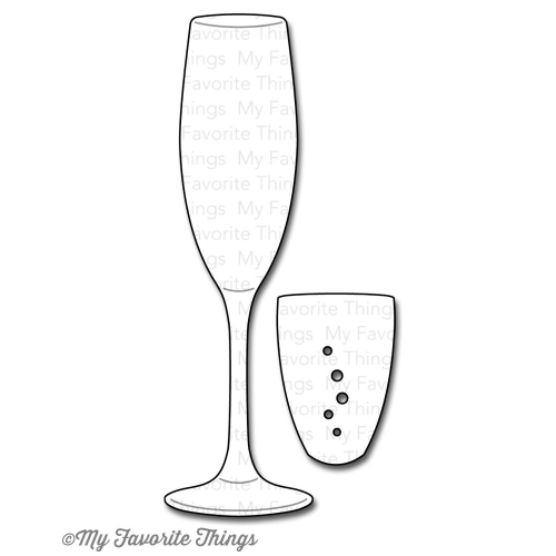 Stanzschablone - Layered Champagne Glasses