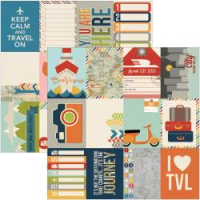 Papier Urban Traveler - Journaling Cards #1