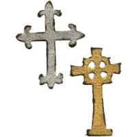 Sizzix Movers & Shaper Magnetic Die - Tim Holtz Mini Ornate Crosses