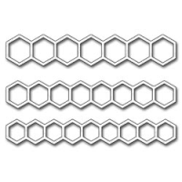 Stanzschablone - Open Hexagon Borders