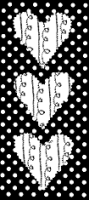Triple Stitched Hearts