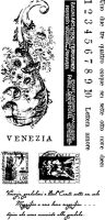 Venezia Correspondence - Clear Stamp Set