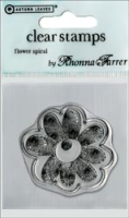 Single Clear Stamp - Flower Spiral