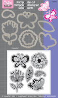 Stamp & Diecut - Playful Flowers and Butterflies