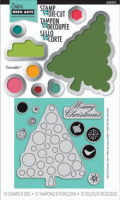 Stamp & Diecut - Merry Christmas Tree